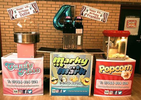 Popcorn, Candy Floss & Slush Machine Hir