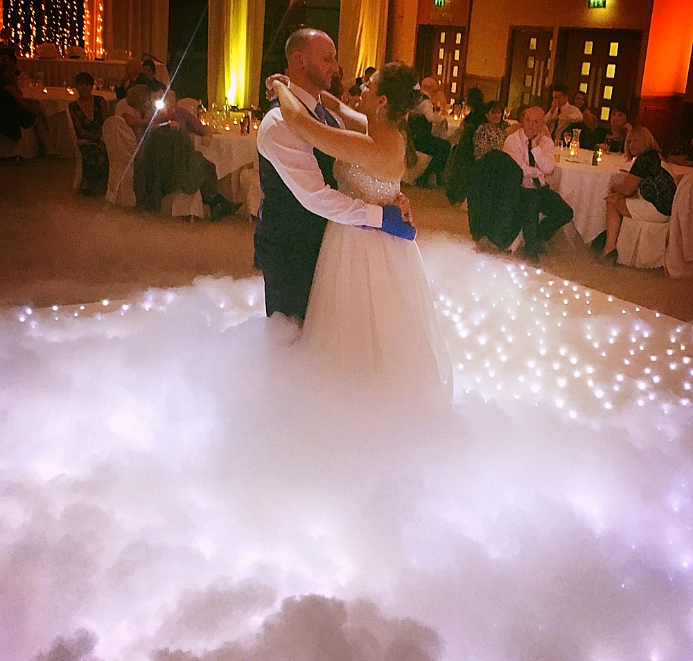 Wedding dance floor hire Essex for first dance - MMENT