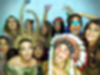 A group of people in a photo booth - photo booth hire Essex - MMENT