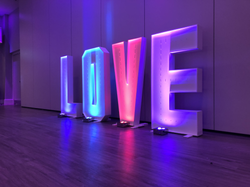 wedding light up letter and number hire Essex - MMENT