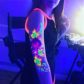 UV body paint design - Moji Entertainer Essex