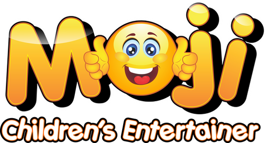 Moji Children's Entertainer in London Logo