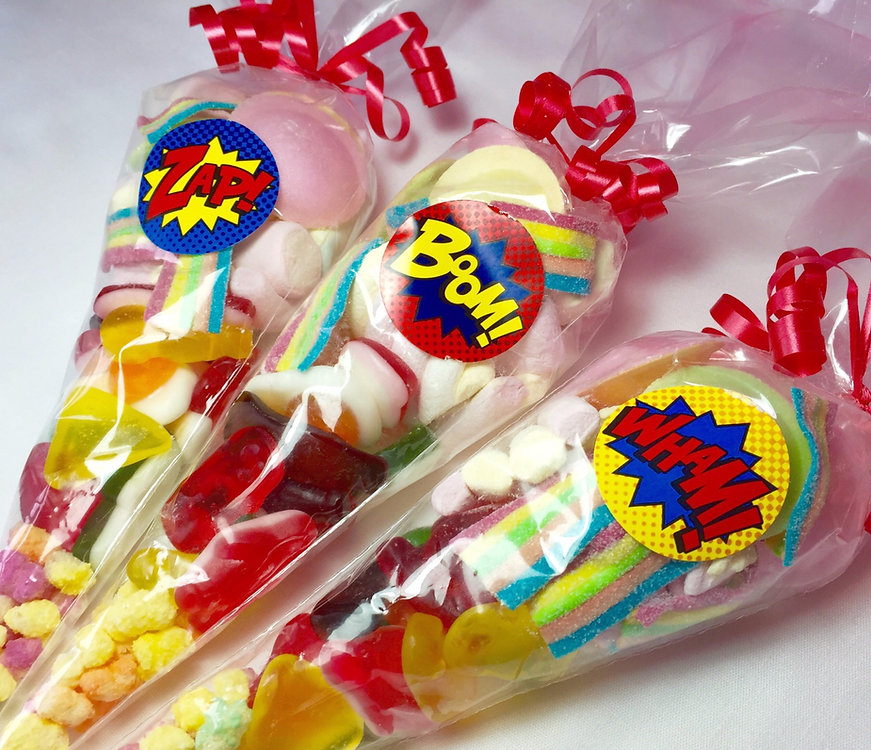 Sweet cones for childrens parties