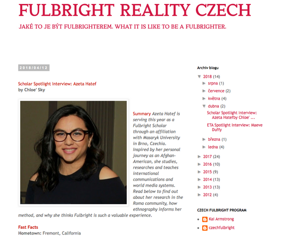 Highlight from the Fulbright Commission Grantee Interview Blog