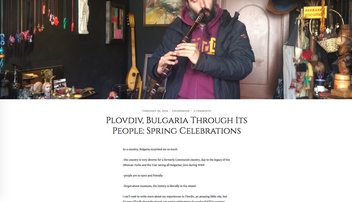 Plovdiv, Bulgaria Through Its People: Spring Celebrations