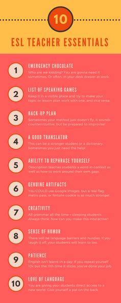 10 ESL Teacher Essentials