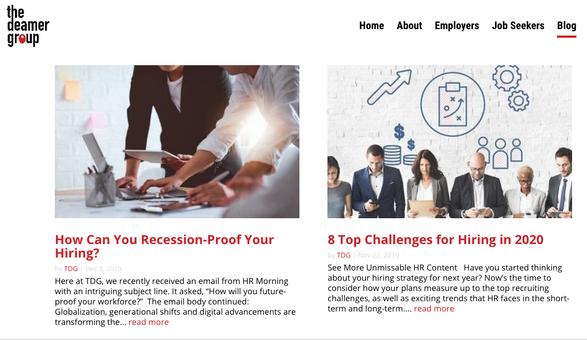The Deamer Group Blog (Content Strategist)