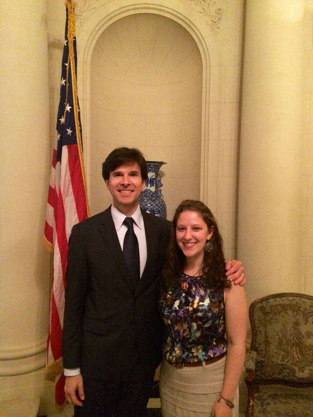 Chloe Weiser with ambassador to Czech Republic