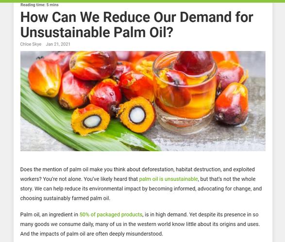 Earth911 Palm Oil