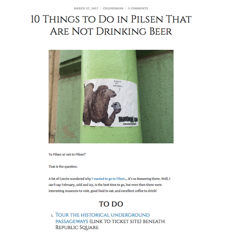 10 Things to Do in Pilsen That Are Not Drinking Beer