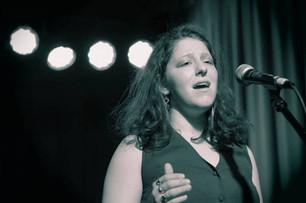 Chloe Skye performing spoken word poetry