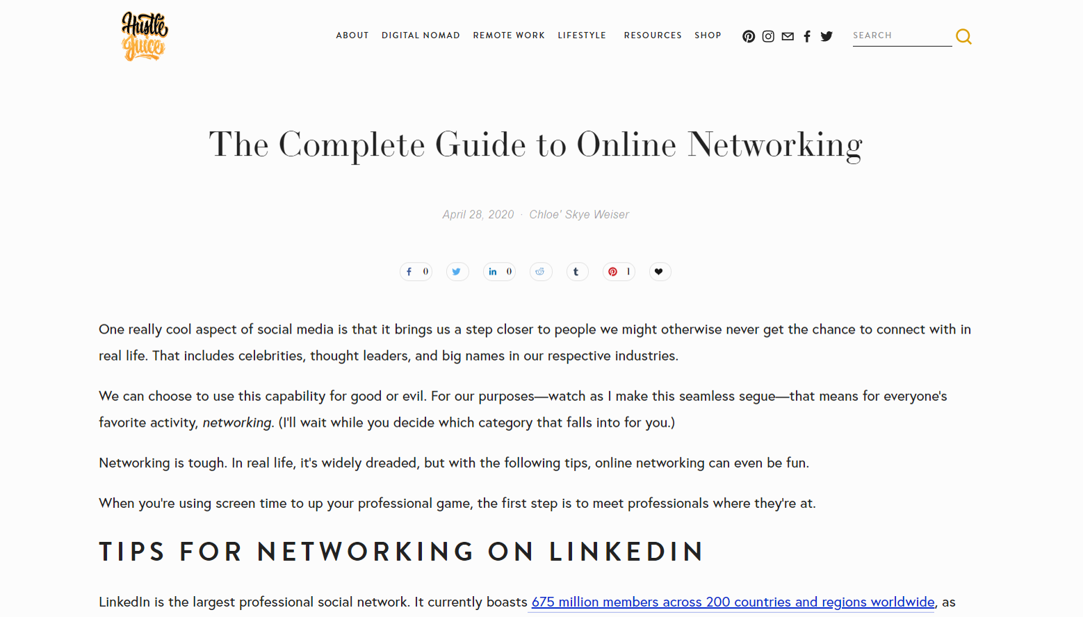 Online networking LinkedIn Facebook