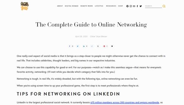 Hustle Juice - Online Networking