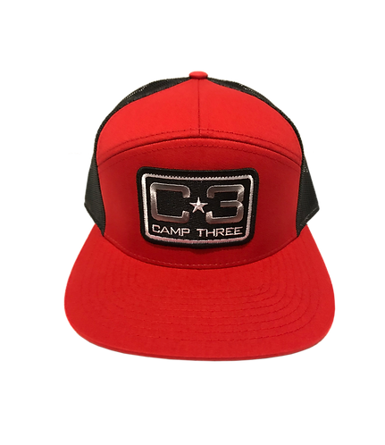 C3 Patch Hat Red