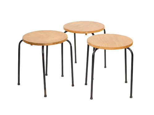 """Vintage Mid Century Modern Stacking """"Dot"""" Stools/Side Tables"""