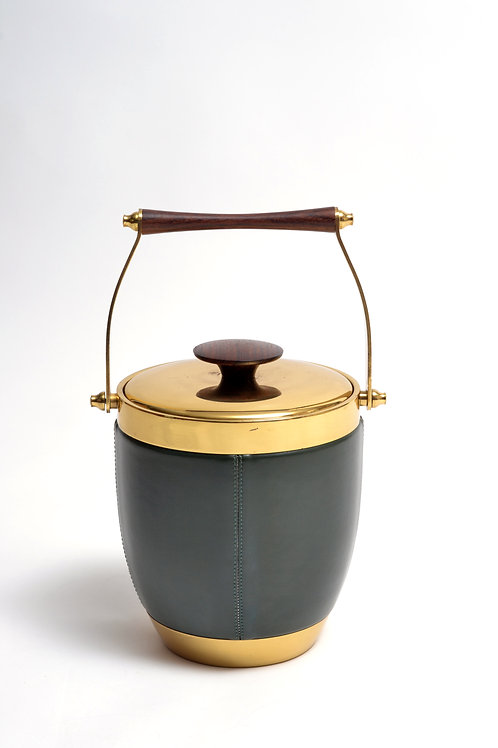 Italian Ice Bucket with Rosewood and Brass Accents