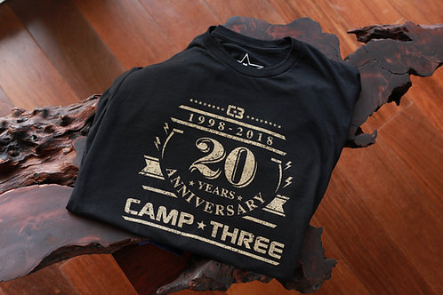 "Limited Edition, Numbered Black & Gold ""20th"" Tee"