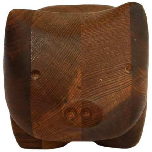 Small Teak Jewelry Box by Studio Artist Deborah Bump Modernist Art