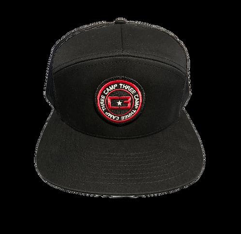 C3 Black Circle Logo Hat