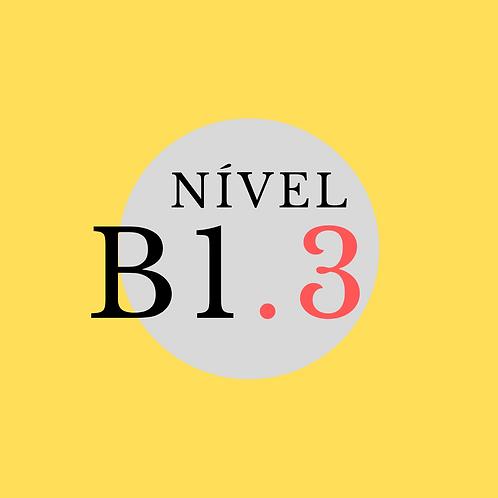 Curso Regular B1.3 - Segunda, 18:00 - 21:00 ( Início 02/08/21)