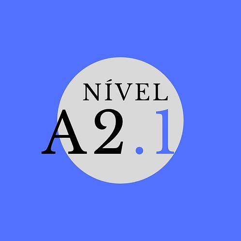 Curso Regular A2.1- Terça e Quinta, 19:30 -21:00 (Início 25/02/21)