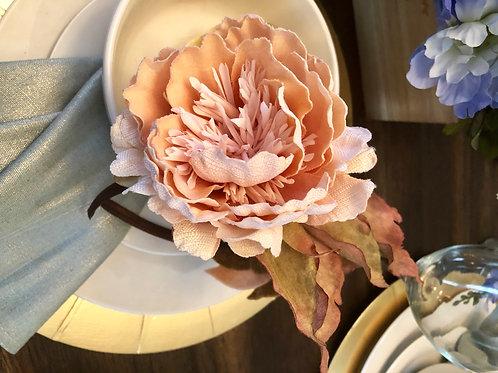 Peach Southern Floral Headband