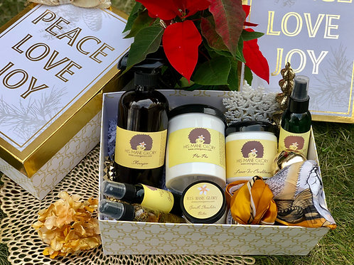 Hair Growth and Moisture Holiday Gift Set (Hair & Skin oil & Gift Container)