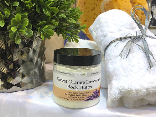 Whipped Body Butter (Sweet Orange Lavender 4oz)