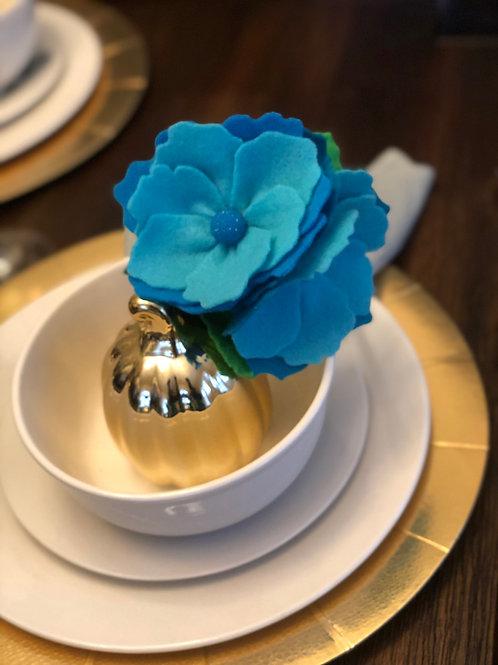 Blue Symphony Felt Floral Headband