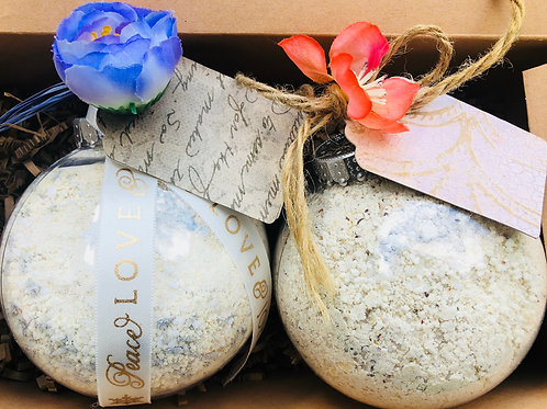 2 Spa Delight Bath Salt Ornament