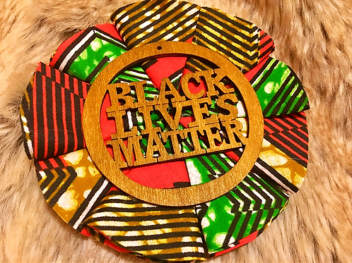 Afro inspired B.L.M Brooch