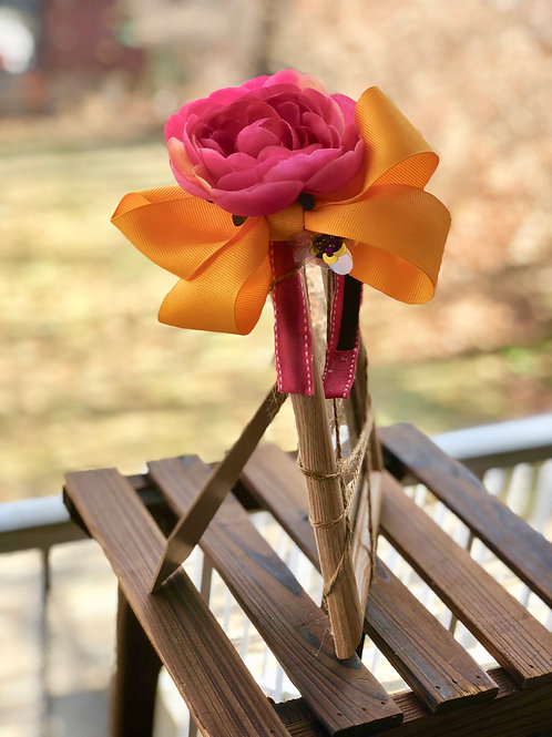 Hot Pink/ Yellow Festive Cubana Headband