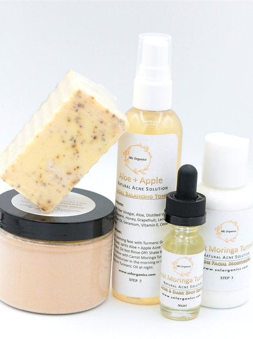 Turmeric Moringa Natural Acne Solution