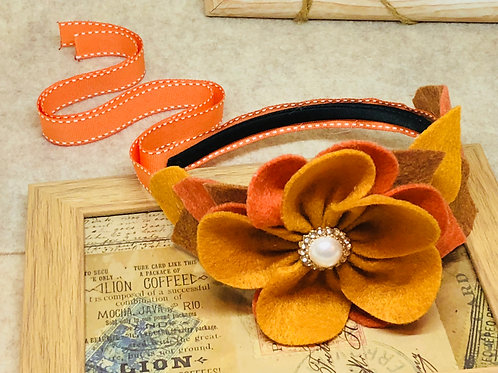 Burnt Orange/Mustard Yellow/ Camel Autumn Season Headband