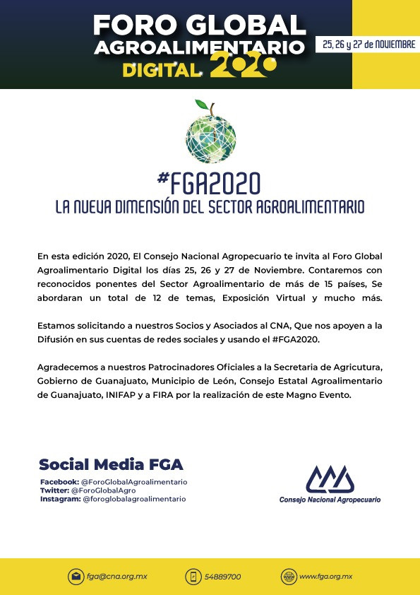 FORO GLOBAL AGROALIMENTARIO DIGITAL 2020