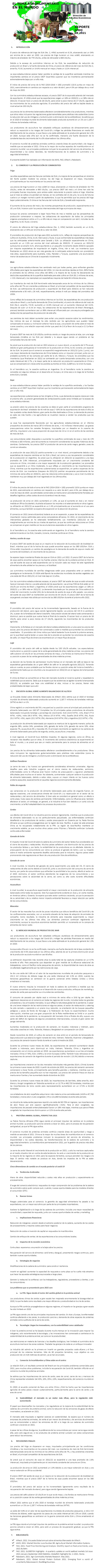 REPORTE: EL TEMA AGROALIMENTARIO EN EL MUNDO, JUNIO 2021.