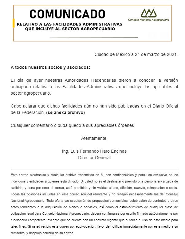 FACILIDADES ADMINISTRATIVAS SHCP/SAT