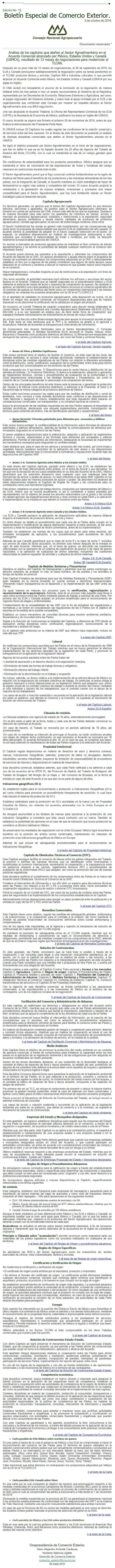 Comunicado Especial: El CNA recibe con beneplácito el anuncio de la conclusión de la negociación tri
