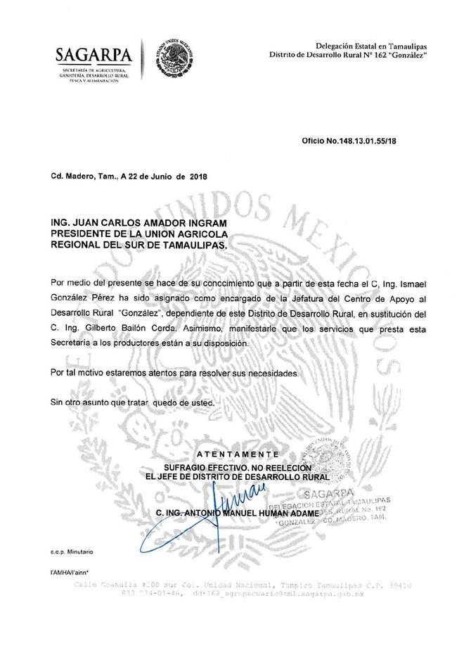 """Ing. Ismael González Pérez encargado de la jefatura del Centro de Apoyo al Desarrollo Rural """"Go"""