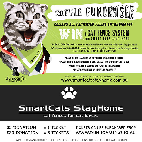 CAT FENCE RAFFLE