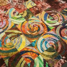 Swirling Spirals Warm Tones