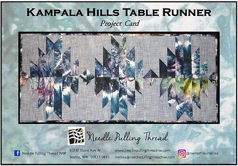 Kampala Hills Table Runner Project Card