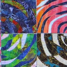 Swirling Spirals Table Runner