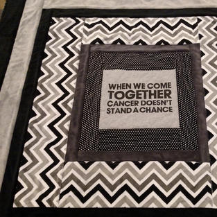 Together We Stand Relay for Life Stadium Blanket