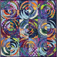 Swirling Spirals Cool Tones