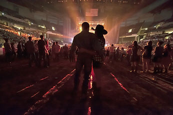 People at Country Concert
