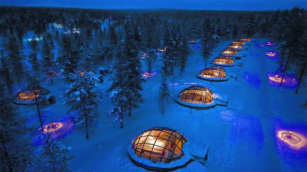 芬蘭 玻璃圓頂小屋