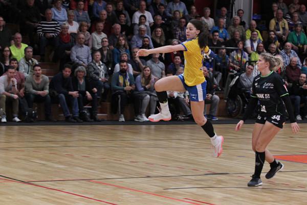 Derzeit durch die Gegner kaum zu stoppen: Gegen den Tabellenführer traf Lucie-Marie Kretzschmar 9 Mal