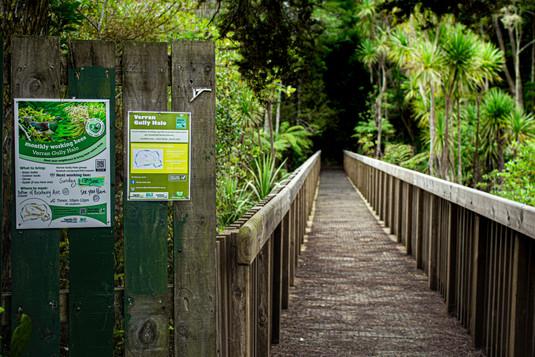 Entrance to Ridgewood reserve