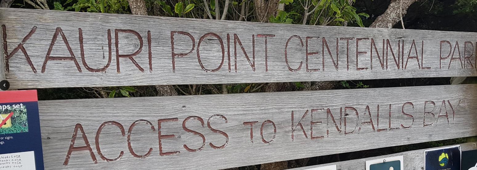 Kauri Point Centennial Park Sign.png